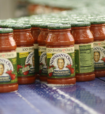 Newmans Pasta Sauce in the Living Jar